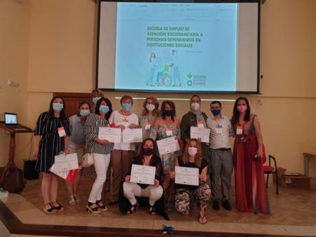 Un total de 15 personas en situación de desempleo se forman en San Lorenzo de la Parrilla en atención sociosanitaira