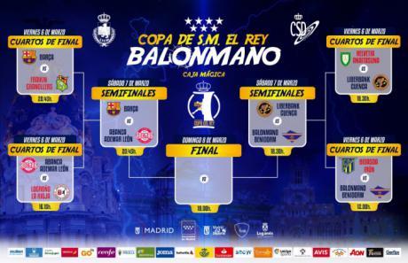 Copa del Rey | Barça-Ademar y Benidorm-Liberbank Cuenca, semifinales de la Copa