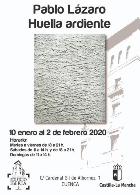 La Sala Iberia acoge la exposición ´Huella ardiente´ del pintor afincado en Cuenca, Pablo Lázaro