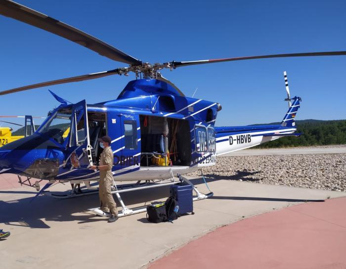 Vuelve a la base de Prado de los Esquiladores el helicóptero robado el 7 de agosto