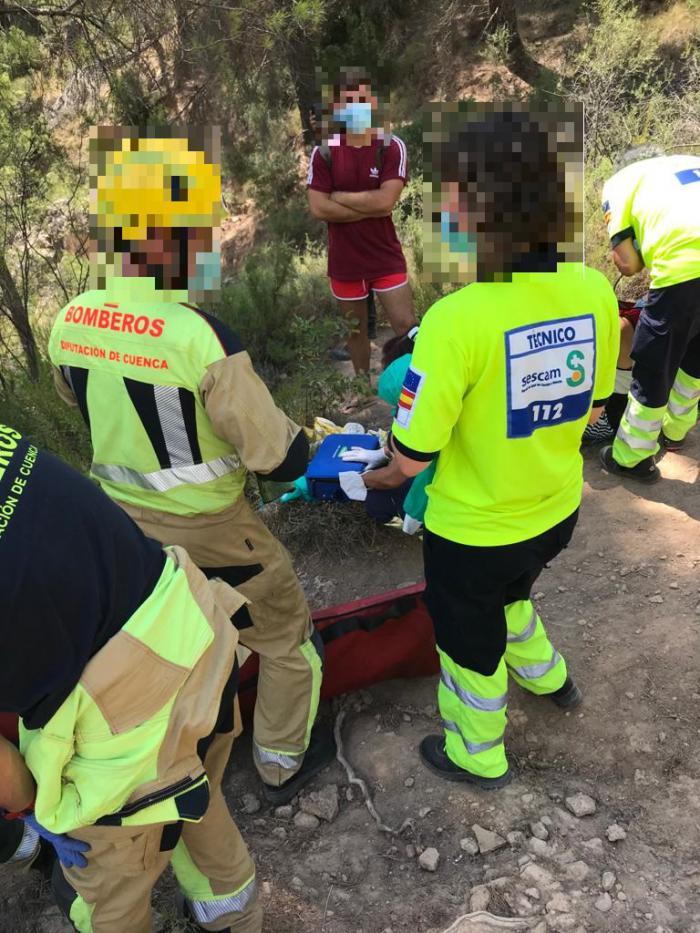 Rescatan y trasladan al Virgen de la Luz a joven tras un accidente en Las Chorreras