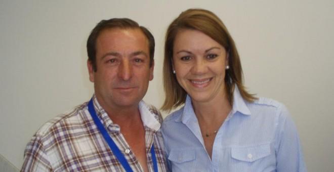 El alcalde José Luis Valladolid Lucas junto a la  ex secretaria general de su partido, Mari?a Dolores de Cospedal