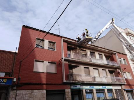 Rachas de viento de 93 km/h en Tarancón obligan a varias intervenciones de los bomberos