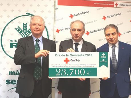 El Grupo Caja Rural, al que pertenece Globalcaja, recaudó 23.700 euros para Cruz Roja gracias al Día de la Camiseta