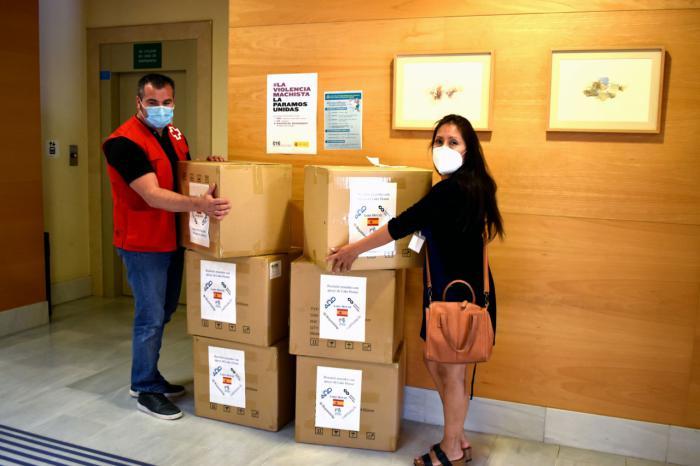 El Gobierno de España inicia la entrega en Cuenca de 15.000 mascarillas a Cruz Roja, Cáritas y CERMI para su distribución a los colectivos más vulnerables