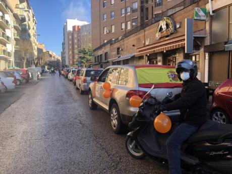 Vuelven a las calles de Cuenca las manifestaciones en coche para rechazar la Ley Celaá
