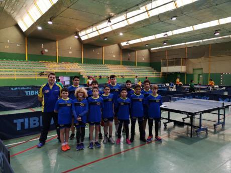 El Club Tenis de Mesa Cuenca consigue unos buenos resultados en el zonal del deporte escolar