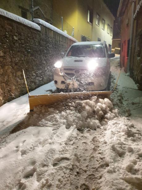 La nevada deja espesores de nieve de 40 cm en Valdecabras