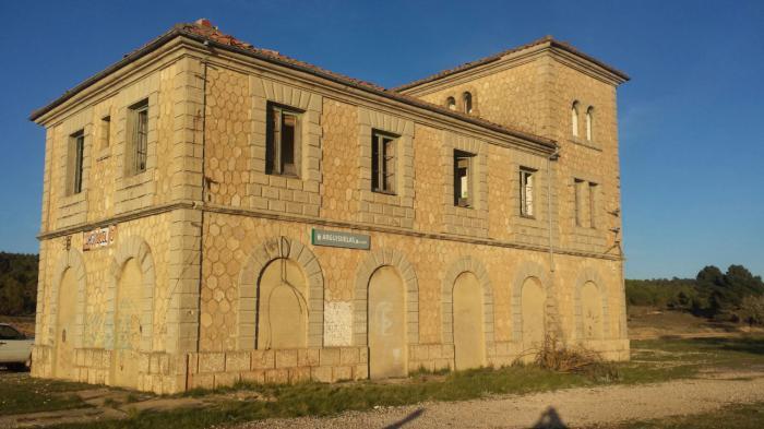 En imagen la estación de Arguisuelas