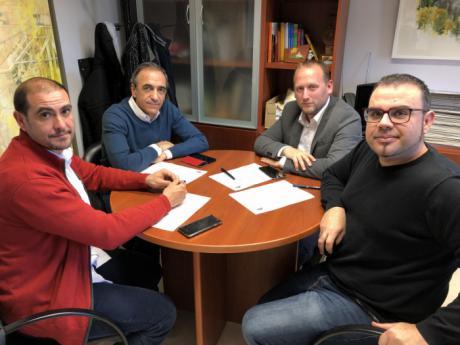 Encuentro de Ayuntamiento y Diputación con la Federación de Baloncesto para fomentar este deporte en Cuenca