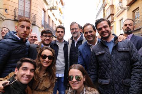Baño de multitudes de Mariano Rayoy en Toledo