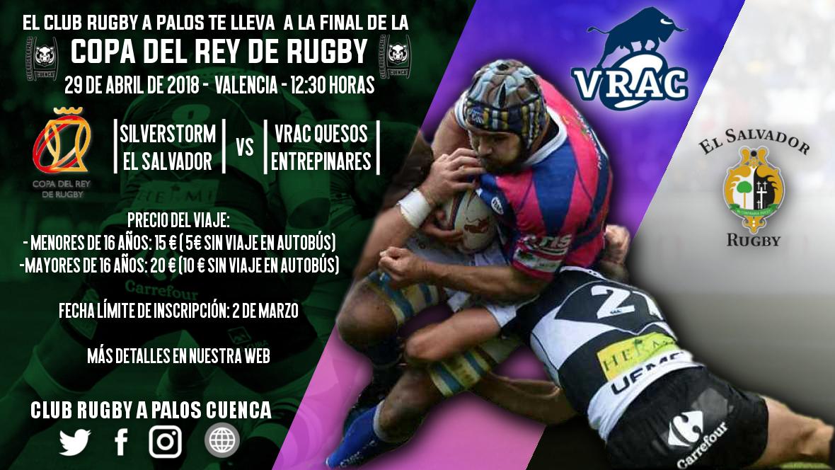 El Club Rugby A Palos te lleva a la Final de Copa del Rey de Rugby