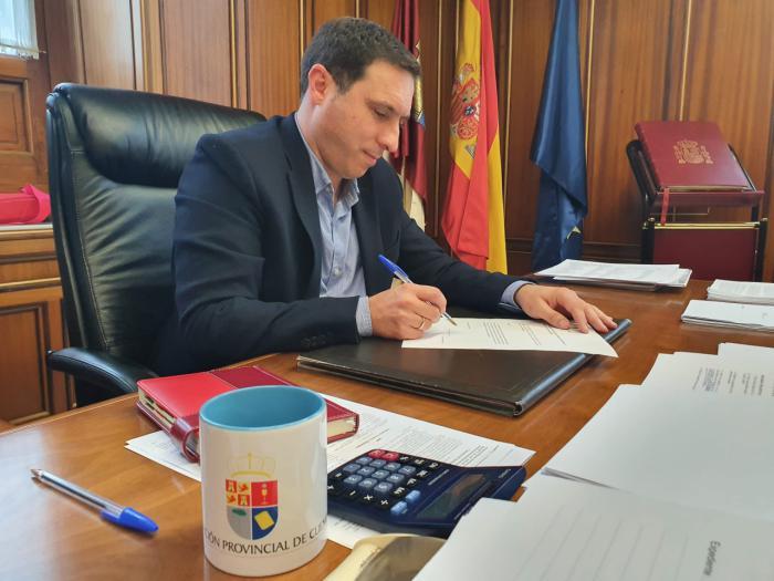 En imagen Álvaro Martínez Chana, presidente de la Diputación de Cuenca