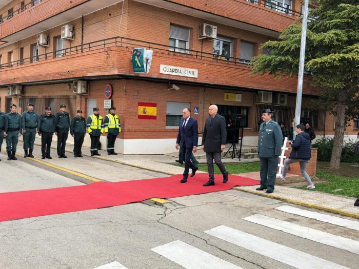 """López Carrizo agradece el """"trabajo constante"""" de la Guardia Civil en Tarancón y comarca"""