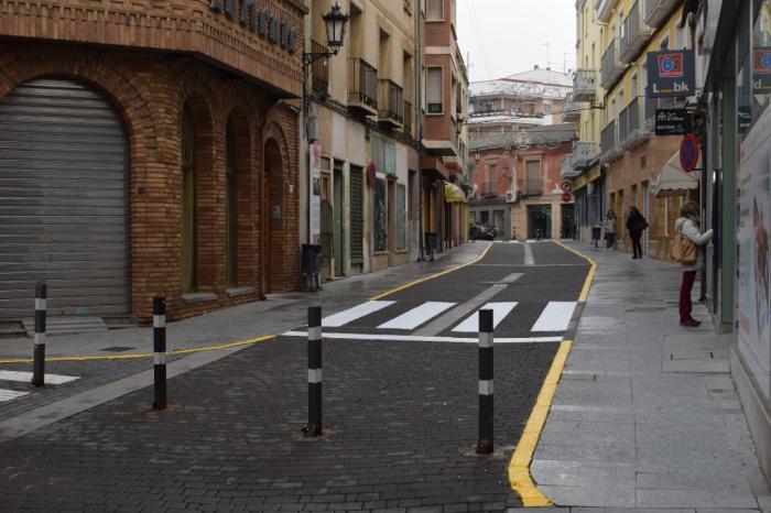 Se reabre al tráfico la calle Zapatería de Tarancón para fomentar el comercio local