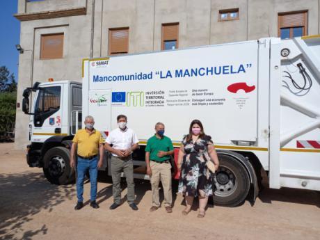 La Mancomunidad La Manchuela estrena un nuevo vehículo para la recogida de recursos orgánicos