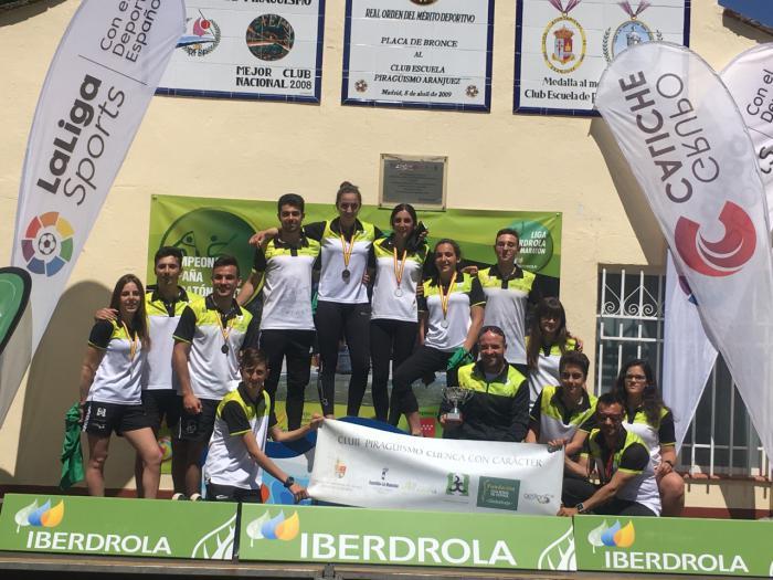 El Club Piragüismo Cuenca con Carácter Subcampeón de España en la primera Short Race española