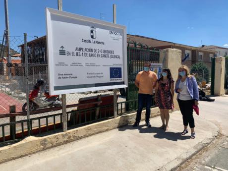 Continúan las obras de ampliación del IES 4 de junio de la localidad de Cañete