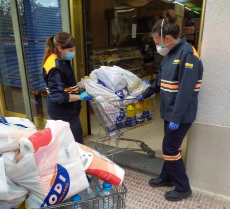 Tarancón continua con el proyecto ´Compras a domicilio´ en colaboración con Protección Civil y Supermercados CODI