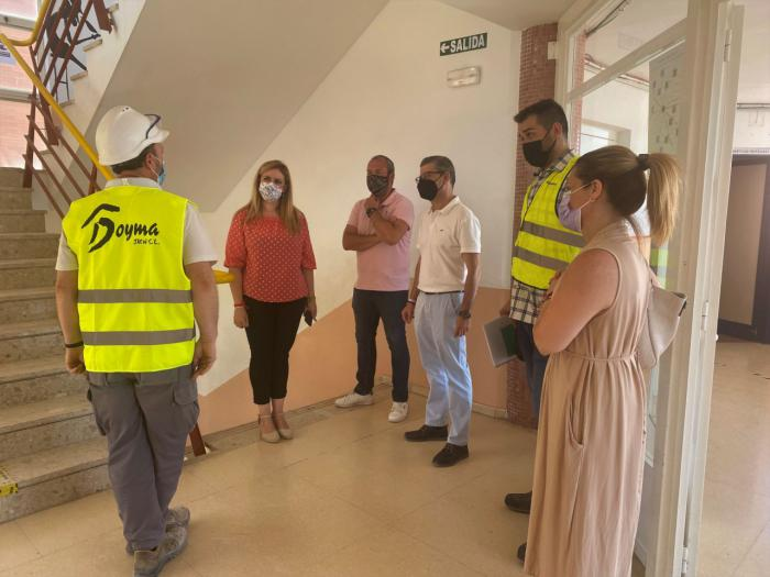 Se ejecutan obras de mejora eficiencia energética en el IES Jorge Manrique