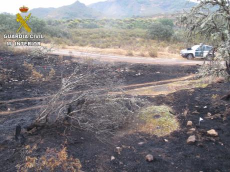 La Guardia Civil alerta del incremento de incendios forestales