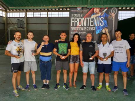 Intenso fin de semana de competición en la Circuito de Frontenis de la Diputación