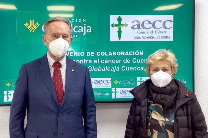 La Fundación Globalcaja Cuenca y la Asociación Española contra el Cáncer renuevan su colaboración