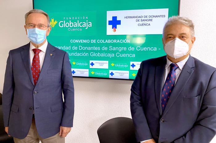 La Fundación Globalcaja Cuenca y la Hermandad de Donantes de Sangre renuevan su colaboración