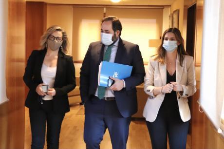 """Núñez señala que frente a los """"peores gobiernos"""" de la historia reciente con Sánchez y Page, el PP seguirá haciendo su trabajo ofreciendo alternativas y soluciones a los problemas de España y Castilla-La Mancha"""