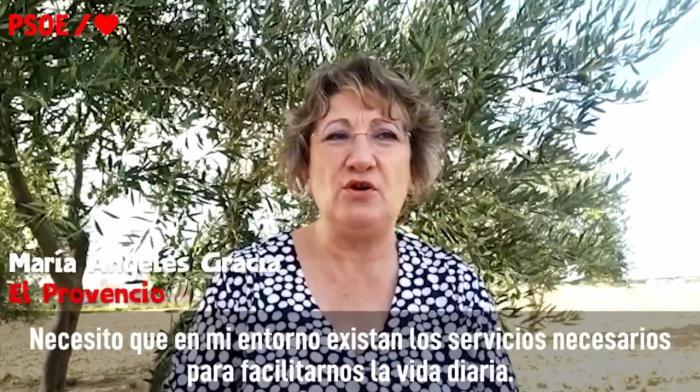 El PSOE incluye a una mujer de El Provencio en el vídeo que ha utilizado a nivel nacional para celebrar el Día de la Mujer Rural