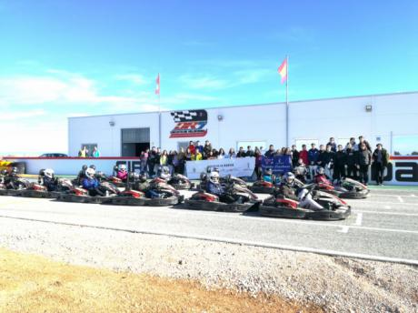 El programa Somos Deporte 16-18 acerca el karting a alumnos del IES La Hontanilla de Tarancón