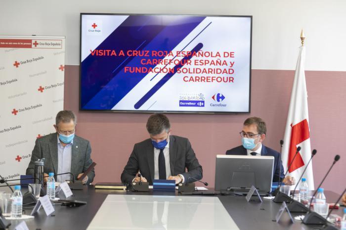 Carrefour y Cruz Roja firman un convenio en materia de empleo e integración social