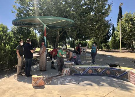 Comienzan los trabajos de recuperación de la Plaza Taiyo