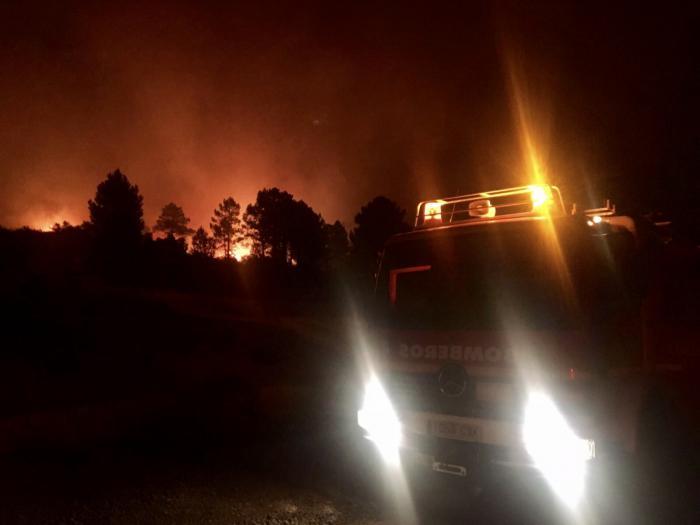 Se eleva al nivel 1 de emergencia en el incendio de Campillo de Altobuey