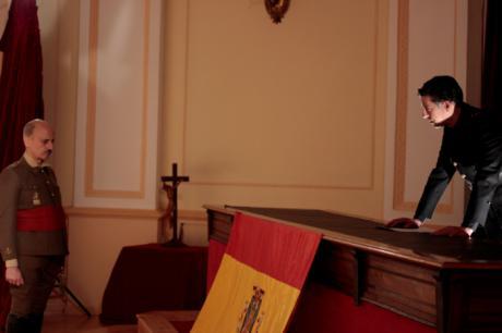 El Palacio Provincial acoge el rodaje de 'Gibraltar' un corto realizado por los alumnos de Bellas Artes