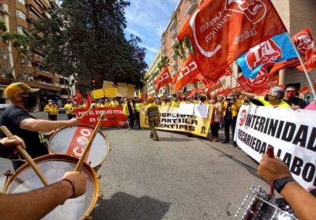 Nuevo seguimiento masivo de la segunda jornada de huelga convocada por UGT y CCOO en Albacete y Ciudad Real