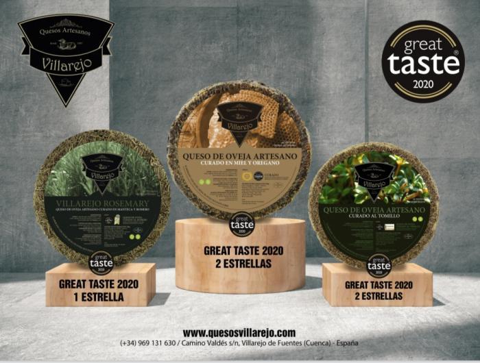"""La quesería conquense Quesos Villarejo premiada con cinco estrellas en los prestigiosos """"Great Taste Awards"""""""