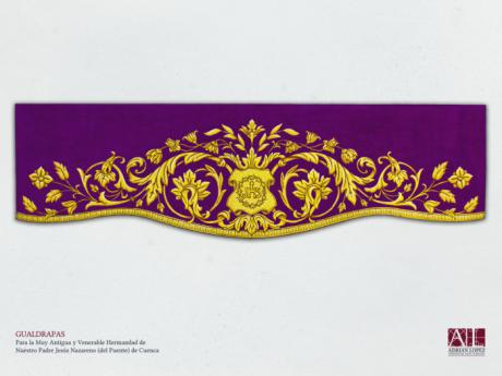 La M. A. V. H. de Ntro. Padre Jesús Nazareno – del Puente – presenta este sábado las nuevas gualdrapas para las andas de su Titular