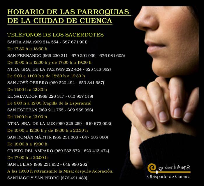 La Iglesia Católica en Cuenca pone en marcha varias iniciativas para seguir cerca de sus fieles en estos duros momentos