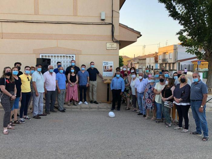 El PP rinde homenaje en la calle Miguel Ángel Blanco de El Herrumblar al concejal asesinado por ETA hace 24 años