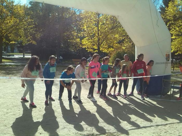 Cerca de doscientos escolares participaron en el duatlón del colegio 'Fray Luis de León'