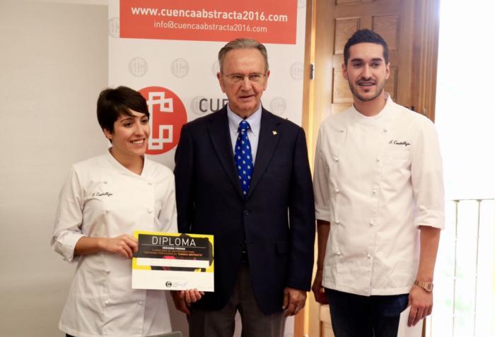"""Carlos de la Sierra, en la entrega del II Concurso Gastronómico """"Cuenca Abstracta"""""""