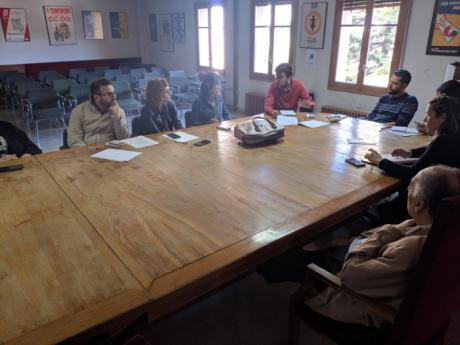 Izquierda Unida-PCAS traslada a CCOO sus propuestas de desarrollo del suelo industrial en Cuenca