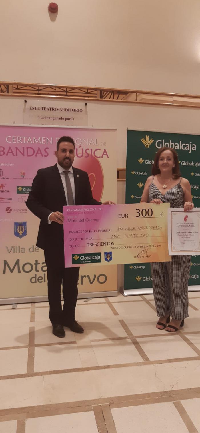 Globalcaja, en los premios del VI Certamen de Bandas de Música 'Vila Mota del Cuervo'