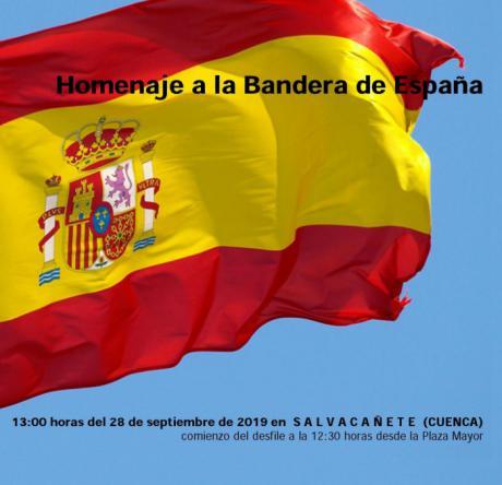 Homenaje a la Bandera el sábado, 28 de septiembre, en Salvacañete