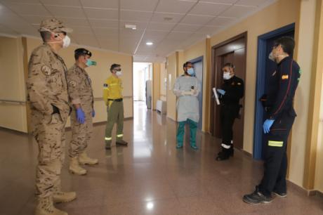 Delegación del Gobierno impulsa ampliar capacidades de desinfección con unas jornadas impartidas por la UME para GEACAM, SEPEI y personal del CENAD y de la Base