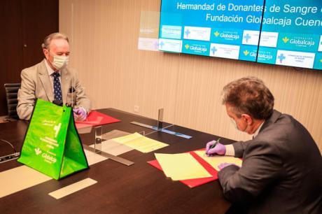 Acuerdo entre la Fundación Globalcaja Cuenca y la Hermandad de Donantes de Sangre de Cuenca