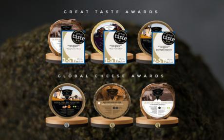 Quesos Villarejo obtiene premios en sus quesos en el Great Taste Awards y el Global Cheese Awards