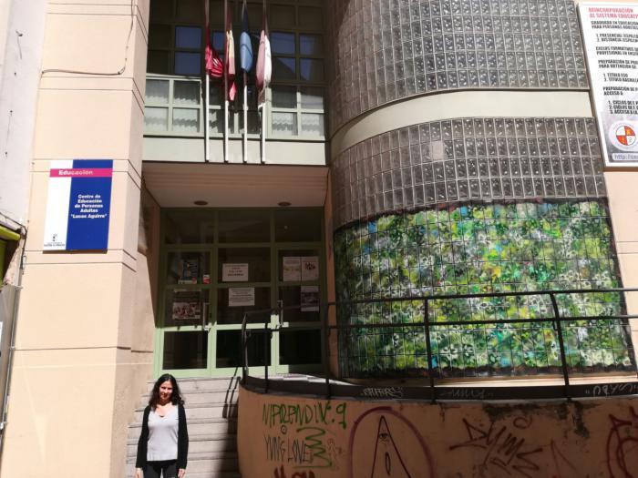 """La """"Ventana al bosque"""" creada por Lira en el CEPA Aguirre"""