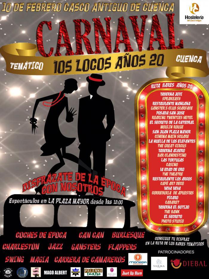 HC Hostelería del Casco Antiguo ha preparado un intenso fin de semana en torno al carnaval y los años 20